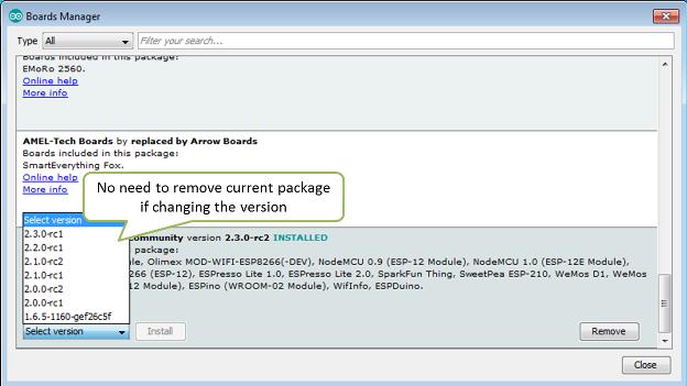 "How to resolve ""Board generic (platform esp8266, package esp8266) is"